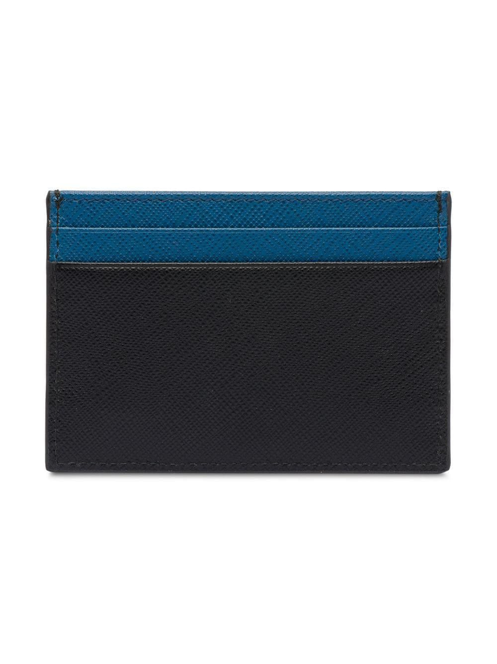 2944f5e02132 Lyst - Prada Saffiano Leather Card Holder in Black for Men