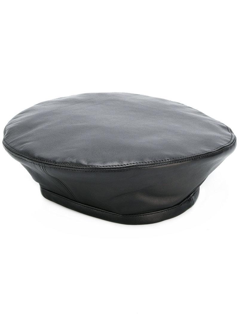 Lyst - Gorro de policía Manokhi de color Negro 62b6218f09c
