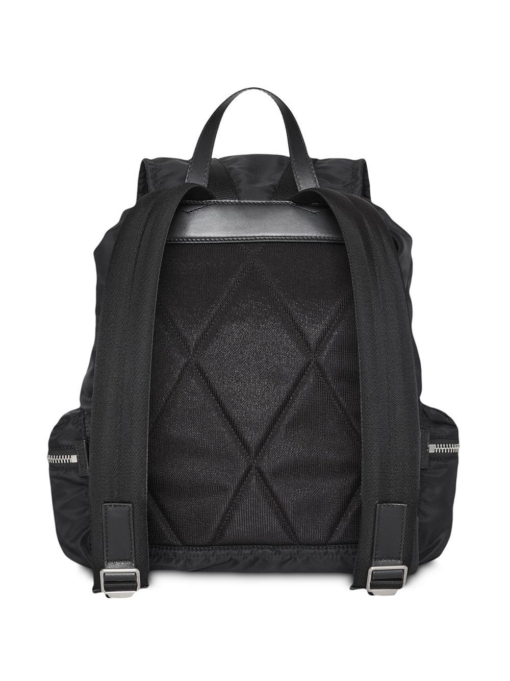 1460ad893fcf Lyst - Burberry The Large Rucksack In Aviator Nylon And Leather in ...