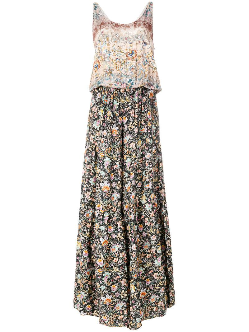 floral flared jumpsuit - Multicolour Black Coral 2018 Sale Online Cheap Low Price Buy Cheap Websites Discount Recommend F5qOXQ