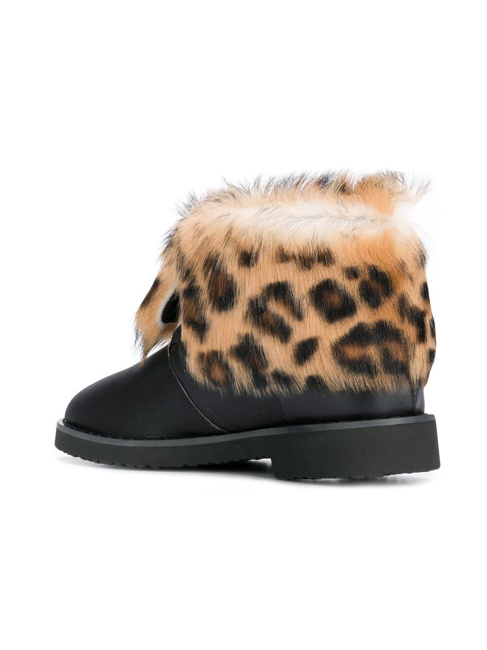 f2b18a01ec6a Lyst - Giuseppe Zanotti Leopard Ankle Boots in Black
