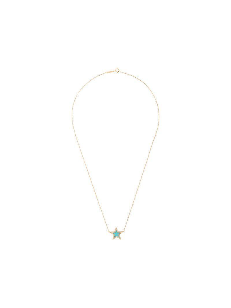 710354e3b114 Collar con estrella en oro de 18 kt con diamantes incrustados y ...