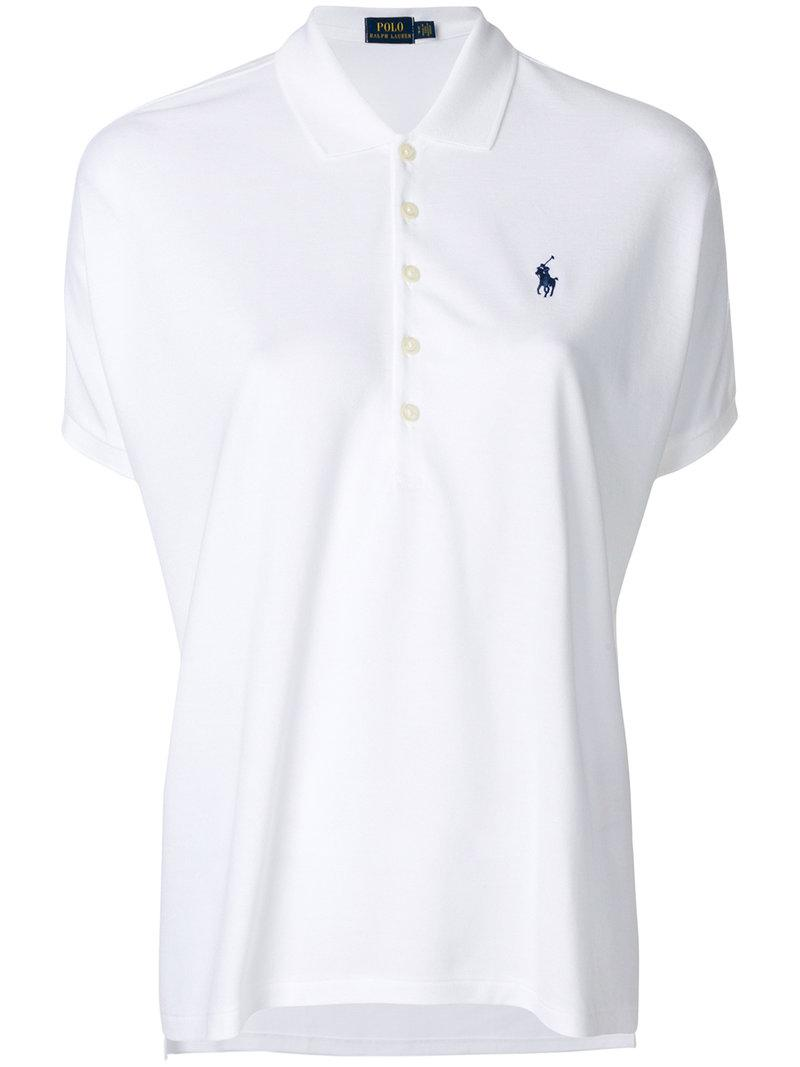 Lyst Polo Ralph Lauren Loose Fit Polo Shirt In White