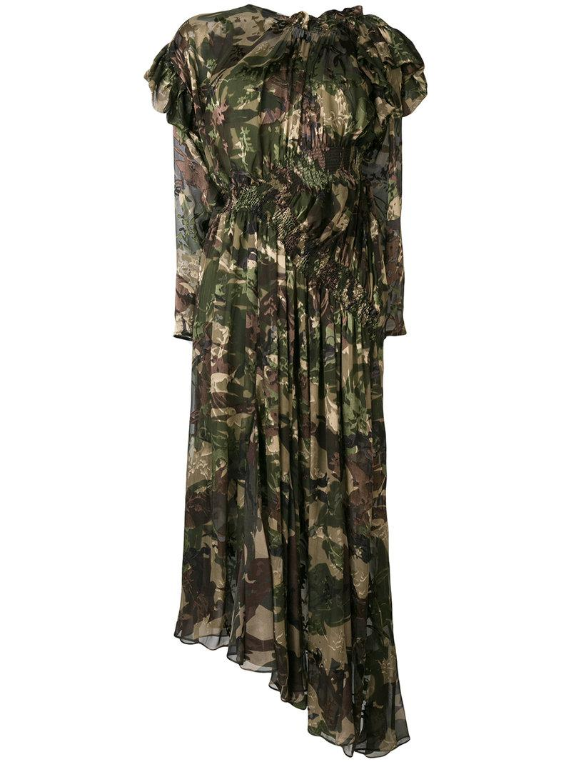 Preen By Thornton Bregazzi Stephanie camouflage flared dress Where To Buy Low Price St3Nyk896S