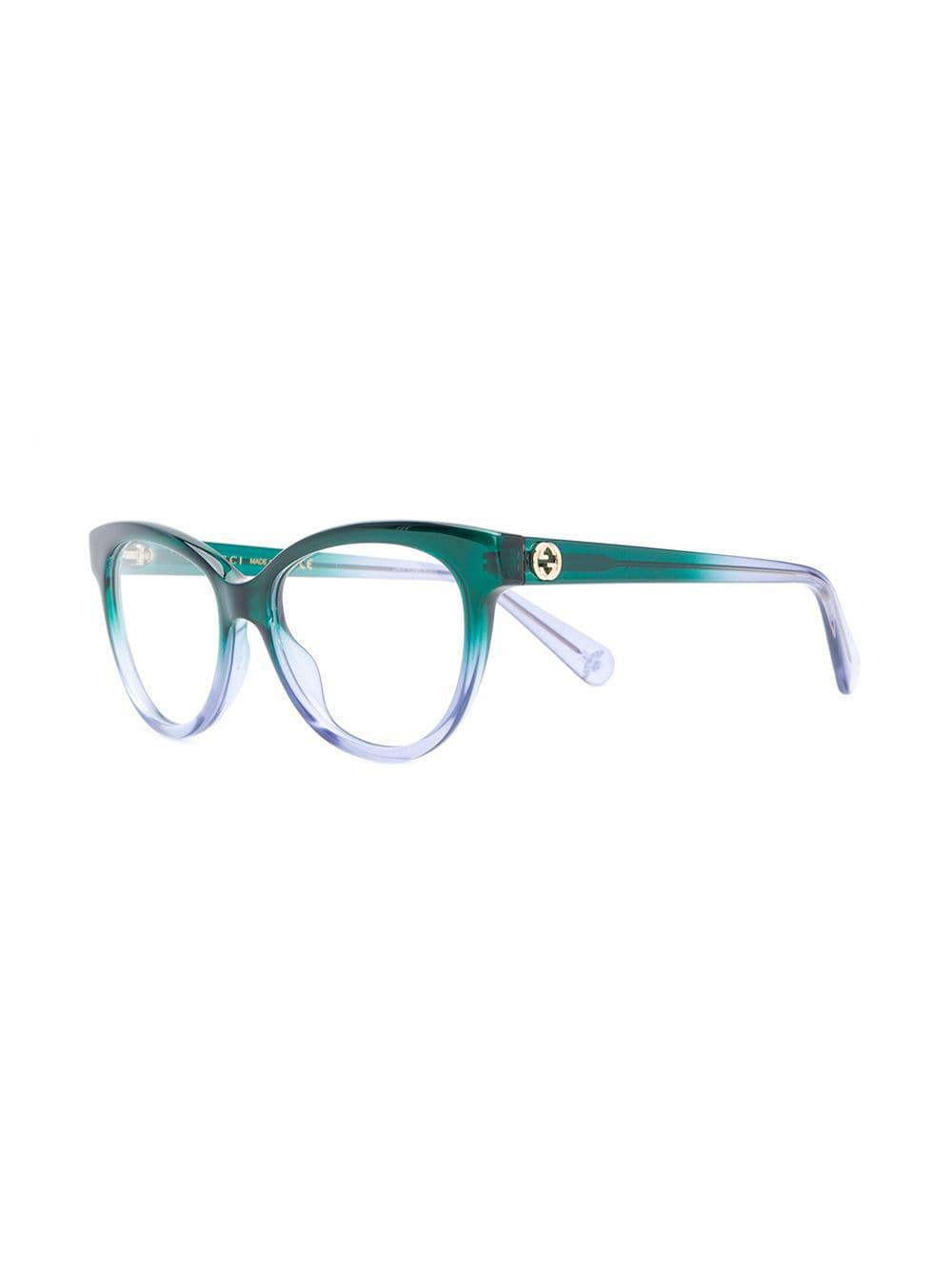 f7ec7358019ab Gucci Cat Eye Frame Glasses in Green - Lyst