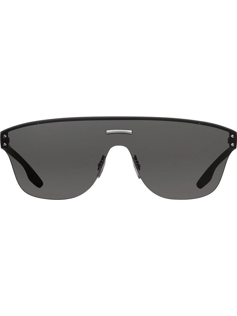 a42e55f699f Lyst - Prada Prada Linea Rossa Stubb Eyewear in Black for Men