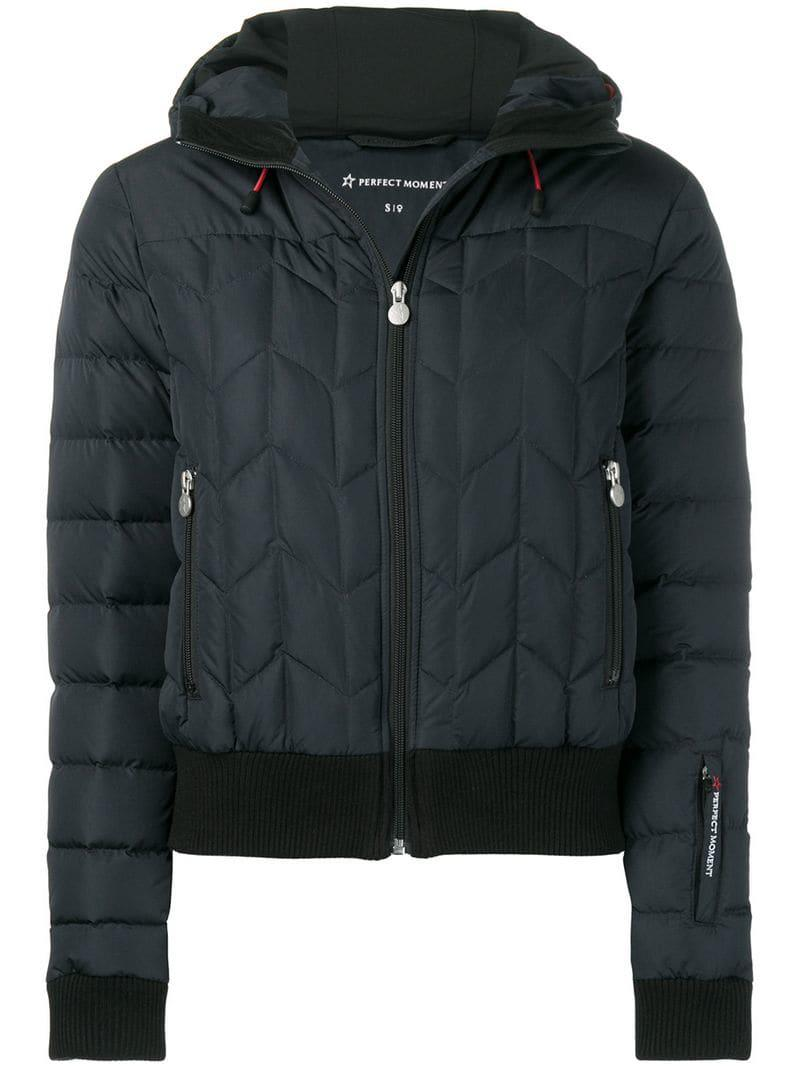 fe841d8445a Perfect Moment Cordon Down Jacket in Black - Lyst