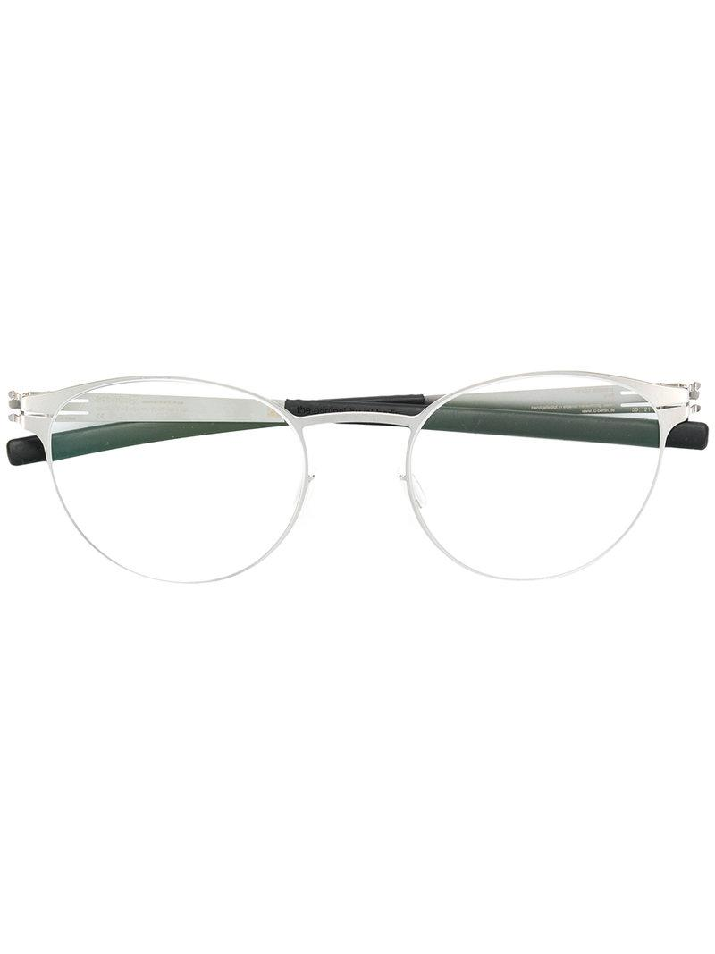 Ic! Berlin Oval Frame Glasses in Metallic - Lyst