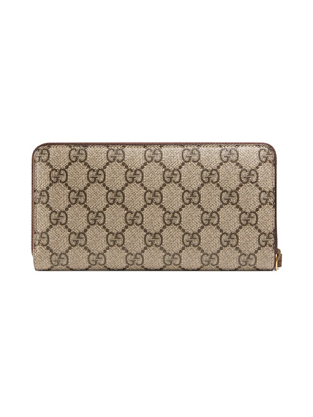 fbffb3cfa5c5 Gucci Neo Vintage Gg Supreme Zip Around Wallet - Lyst