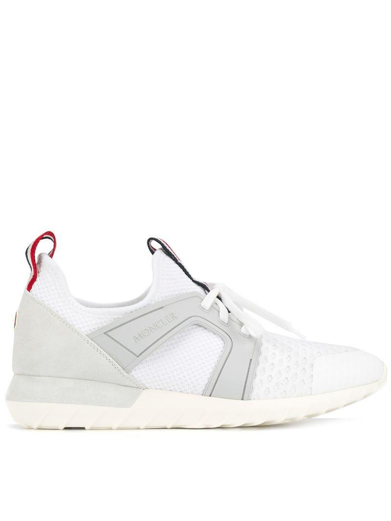 Moncler Lyst Sneakers Men Lace For In Up White NwOvnym8P0