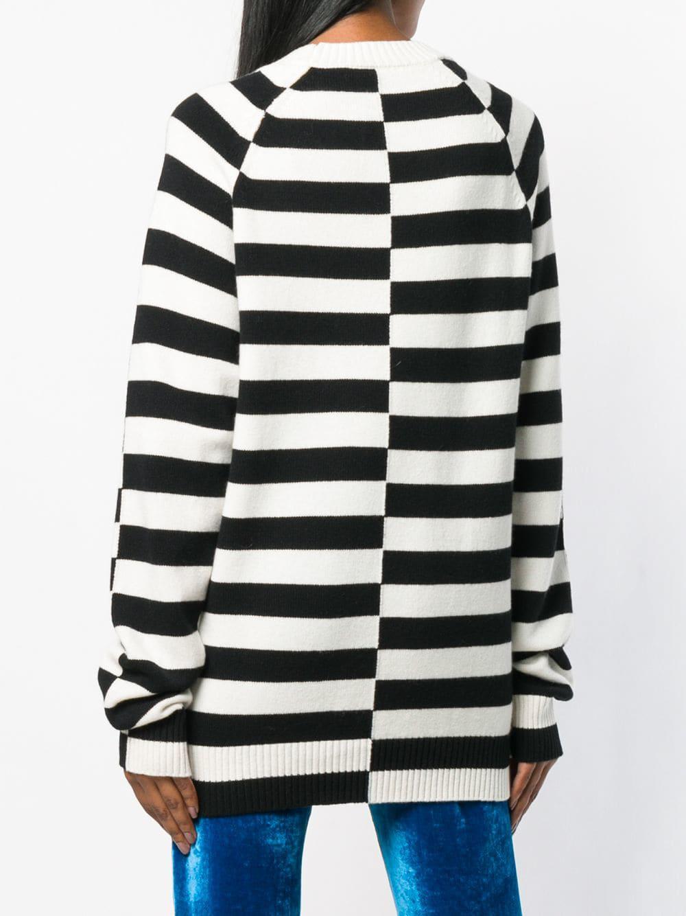 Haider Ackermann - Black Oversized Striped Sweater - Lyst. View fullscreen f666fe9f9