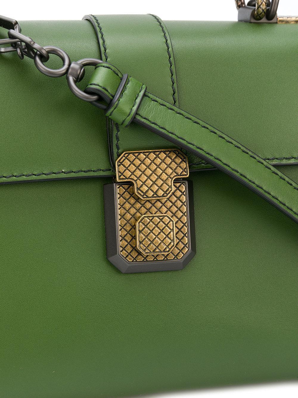 c3215cbeb6a8 Lyst - Bottega Veneta Ivy Nero Calf Small Piazza Bag in Green