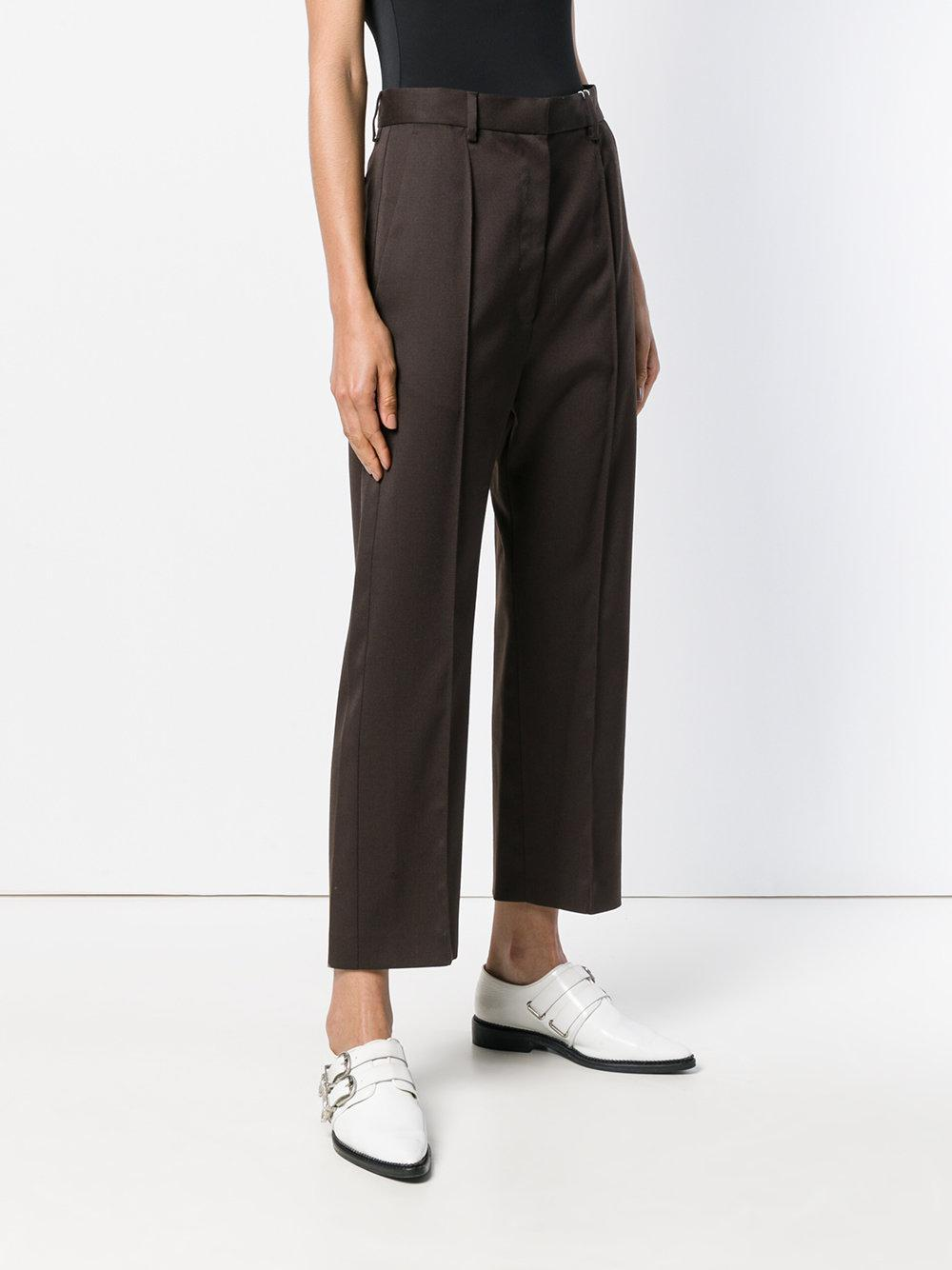 perfectly tailored cropped trousers - Brown Maison Martin Margiela wADktb