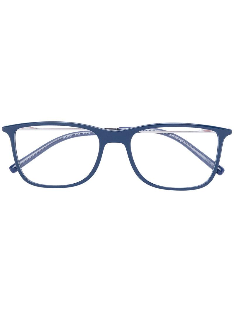 1bdcc3282b20 Dolce   Gabbana Square-frame Glasses in Blue - Lyst
