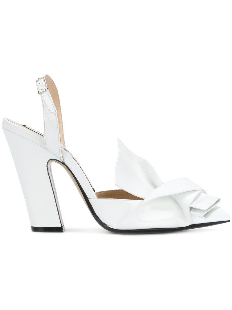 Ebay Cheap Online No21 Abstract bow platform sandals Official Cheap Price Sale Best Discount How Much ZsYpWPTTQl