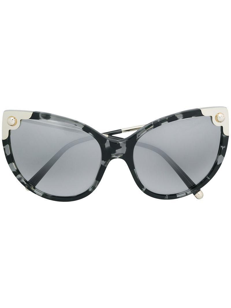 487276567b2 Lyst - Dolce   Gabbana Embellished Cat Eye Sunglasses in Black