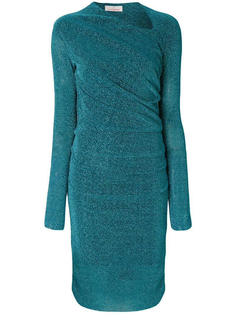 pleated ruched detail dress - Metallic A.F.Vandevorst b8WtwK8qrQ