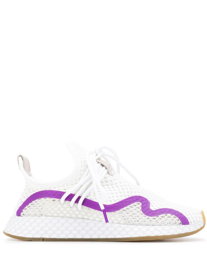 2d6b8b1ceff71 Lyst - adidas Deerupt S Runner Sneakers in White