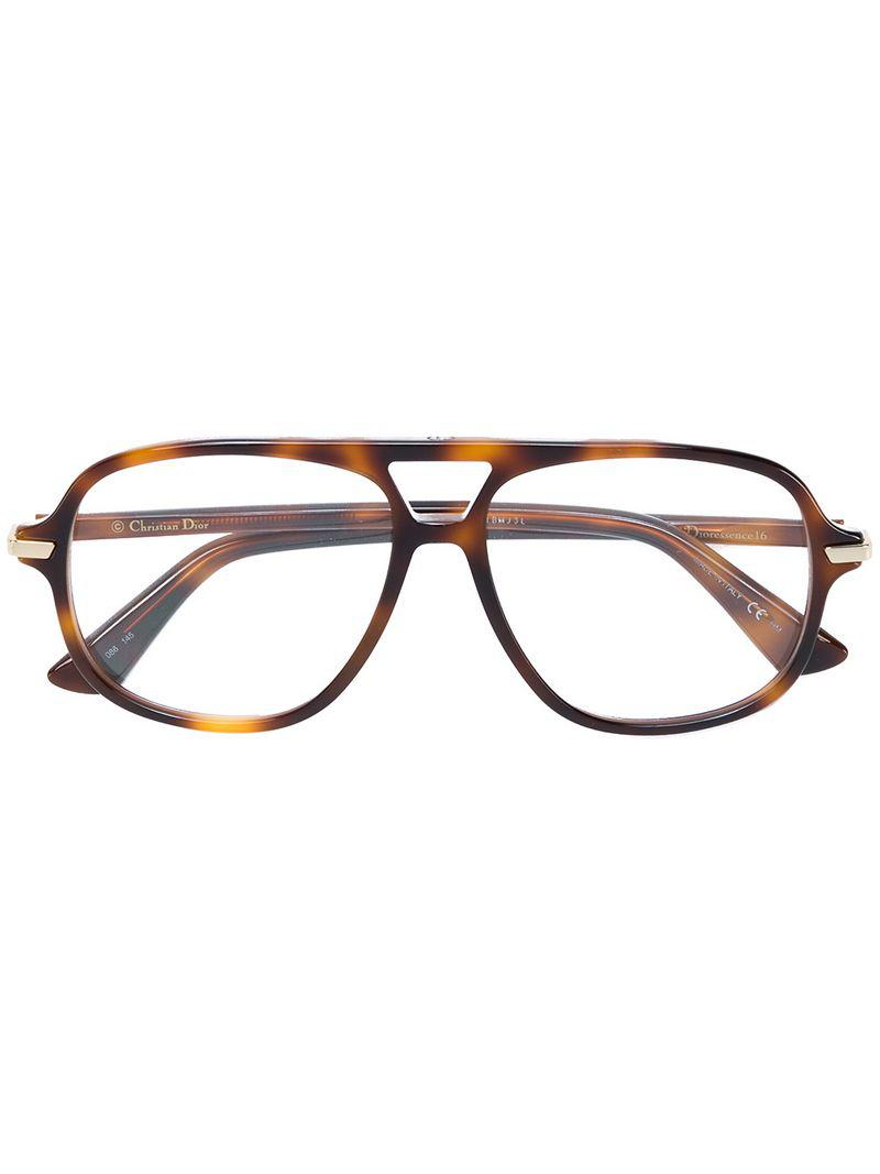 8f5f0c098be5 Lyst - Dior Essence Tortoiseshell-effect Glasses in Brown