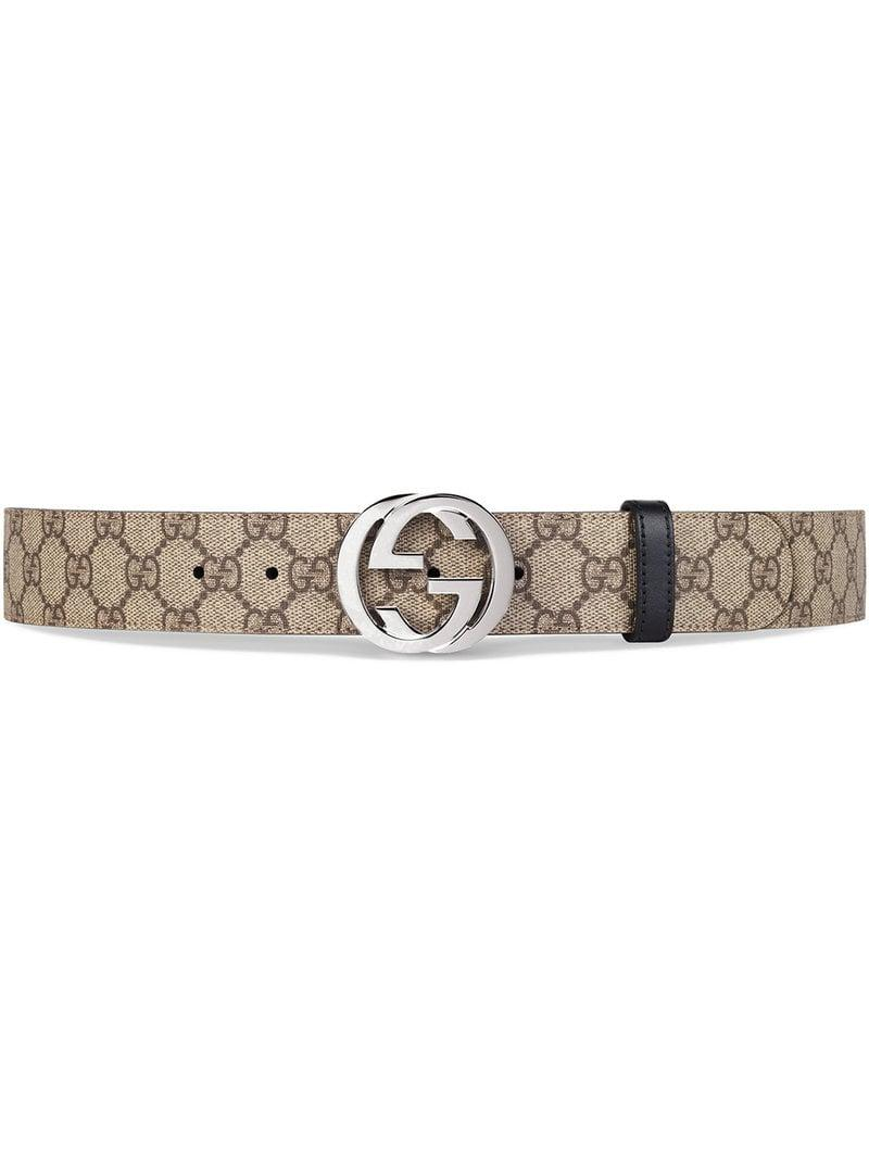 c550f122e8ff9 Lyst - Gucci Reversible GG Supreme Belt in Brown for Men
