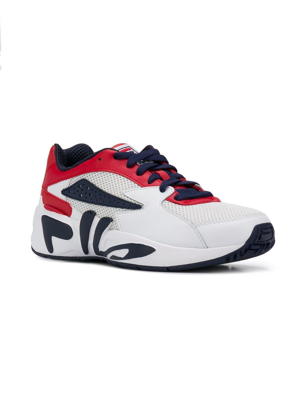 ef581a1f1451 Lyst - Fila Mindblower Lace-up Sneakers in White for Men