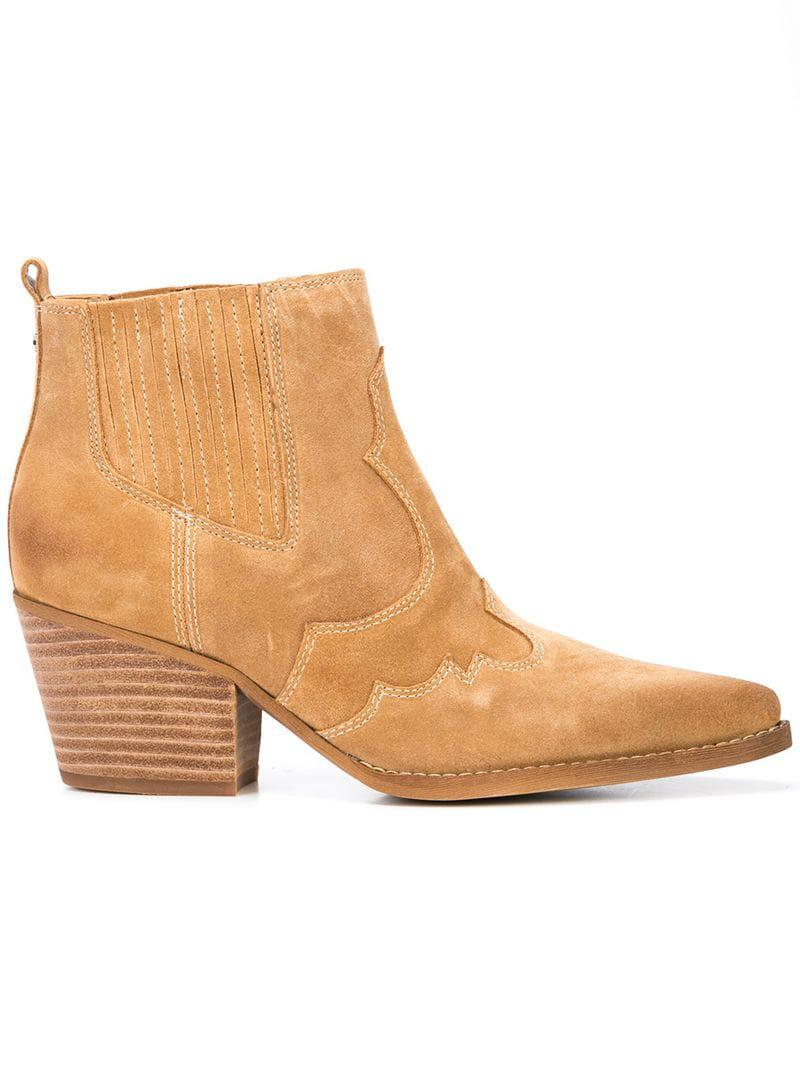 4727fd119 Lyst - Sam Edelman Western Ankle Boots in Brown