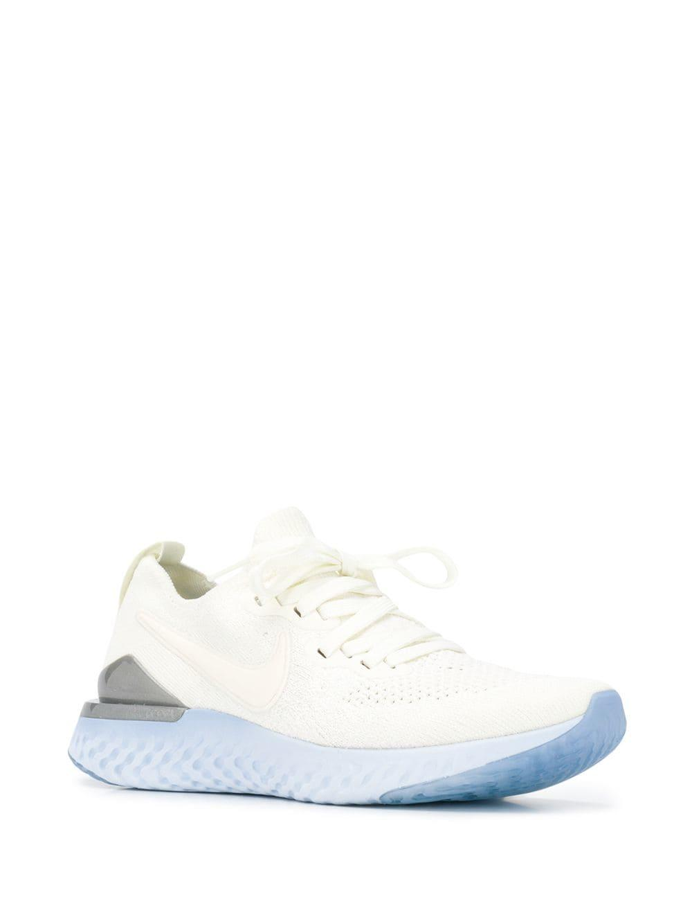 63fe1ba8ecd4 Nike - White Epic React Flyknit Sneakers - Lyst. View fullscreen