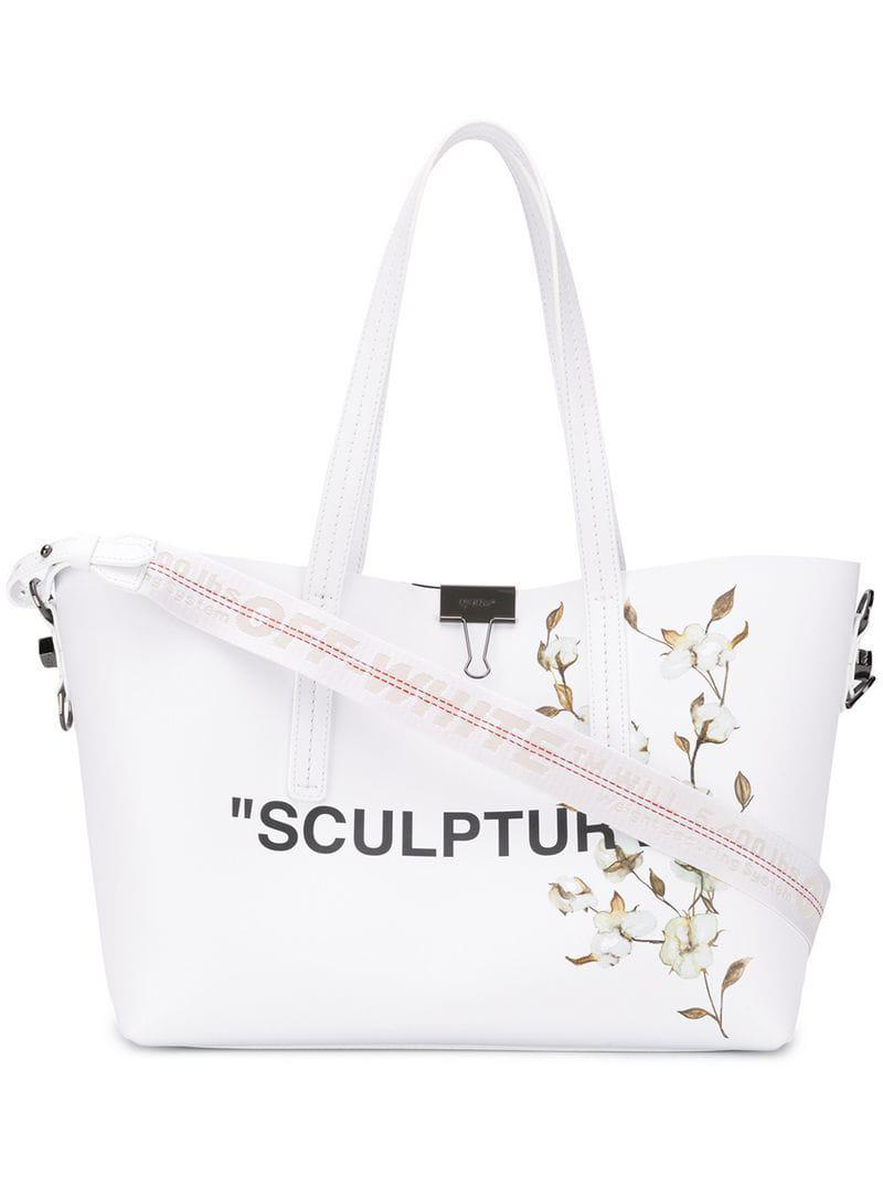e4215ff2b Lyst - Off-White c/o Virgil Abloh 'sculpture' Tote Bag in White