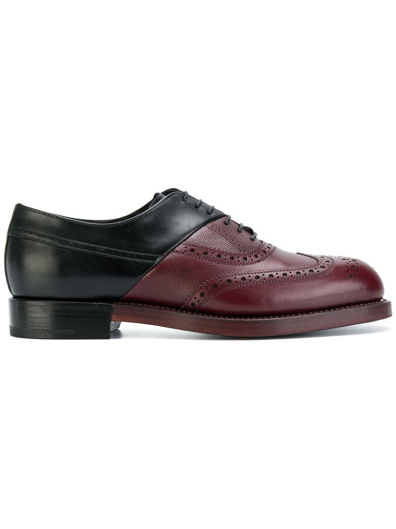 489a56d53a3 Pierre Hardy Panelled Brogues in Black - Lyst