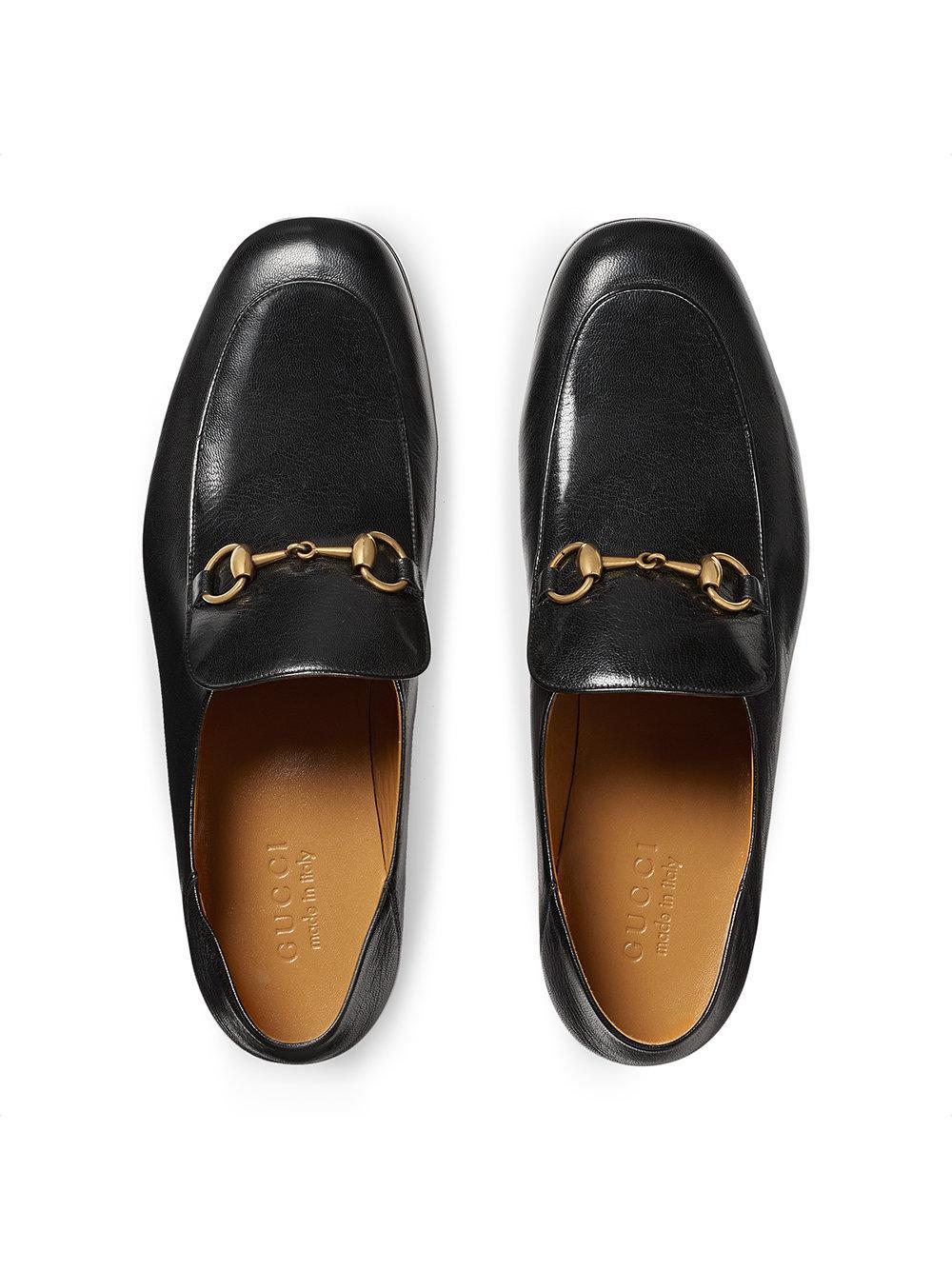 d5a9bac3c Gucci - Black Leather Horsebit Loafer for Men - Lyst. View fullscreen