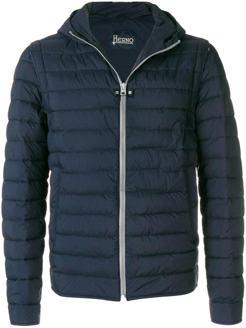Herno Removable Sleeves Jacket In Blue For Men Lyst