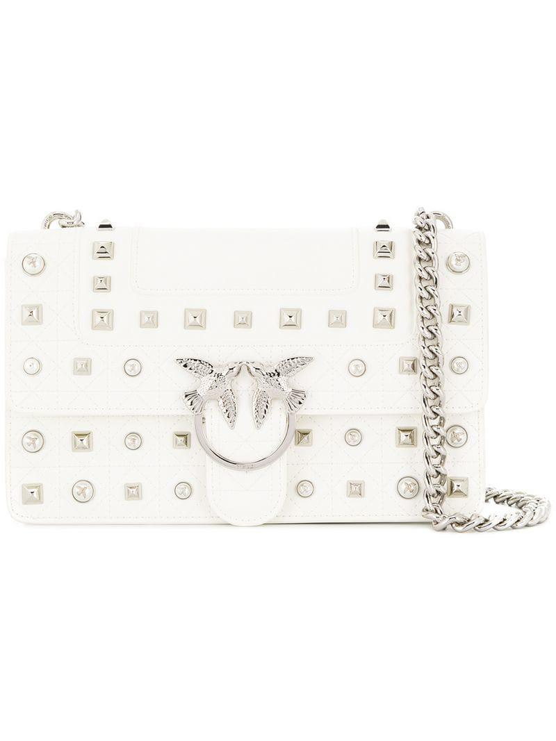 c08a45b4f6997 Pinko Love Shoulder Bag in White - Lyst