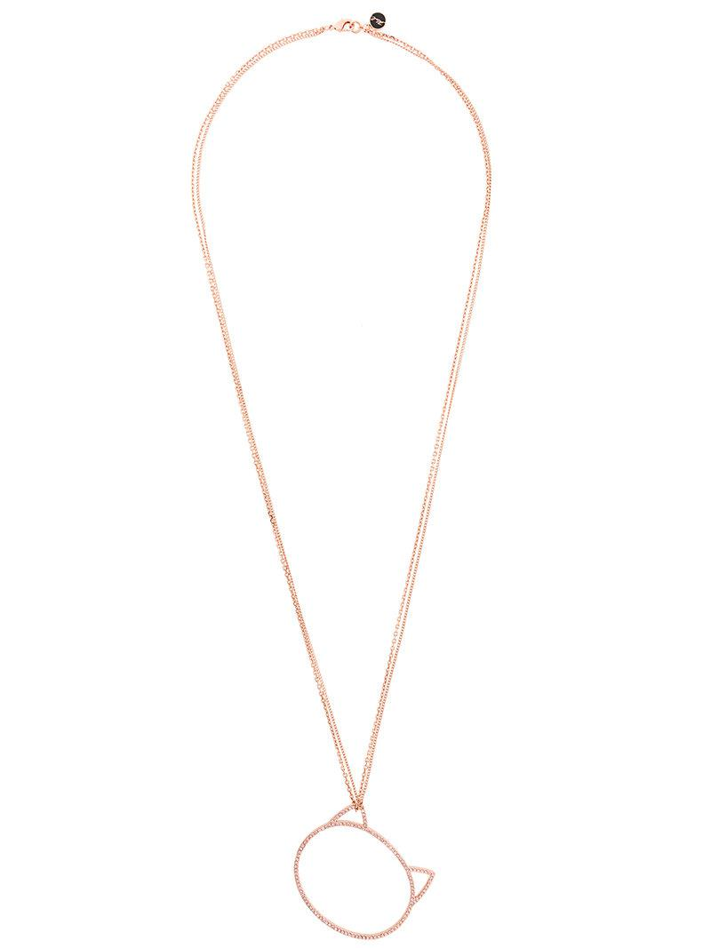 Karl Lagerfeld big Choupette necklace - Metallic YeJHG7