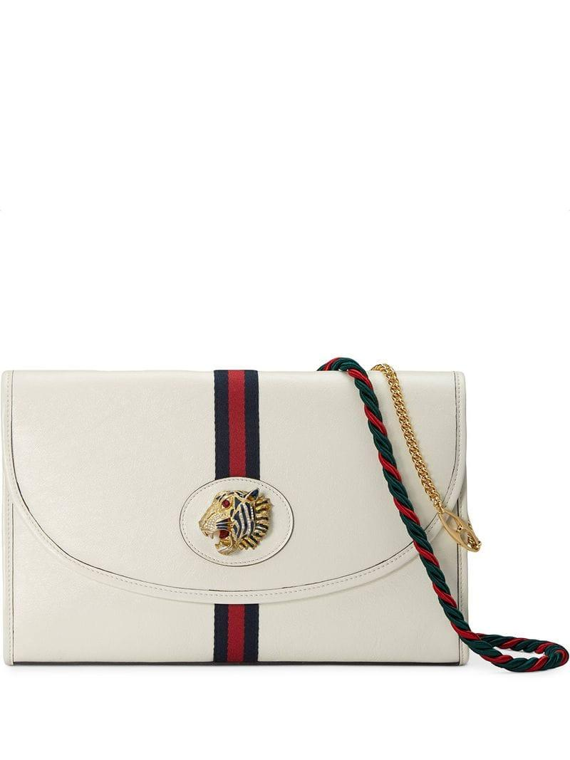 a686e1ae948 Lyst - Gucci Rajah Medium Shoulder Bag in White