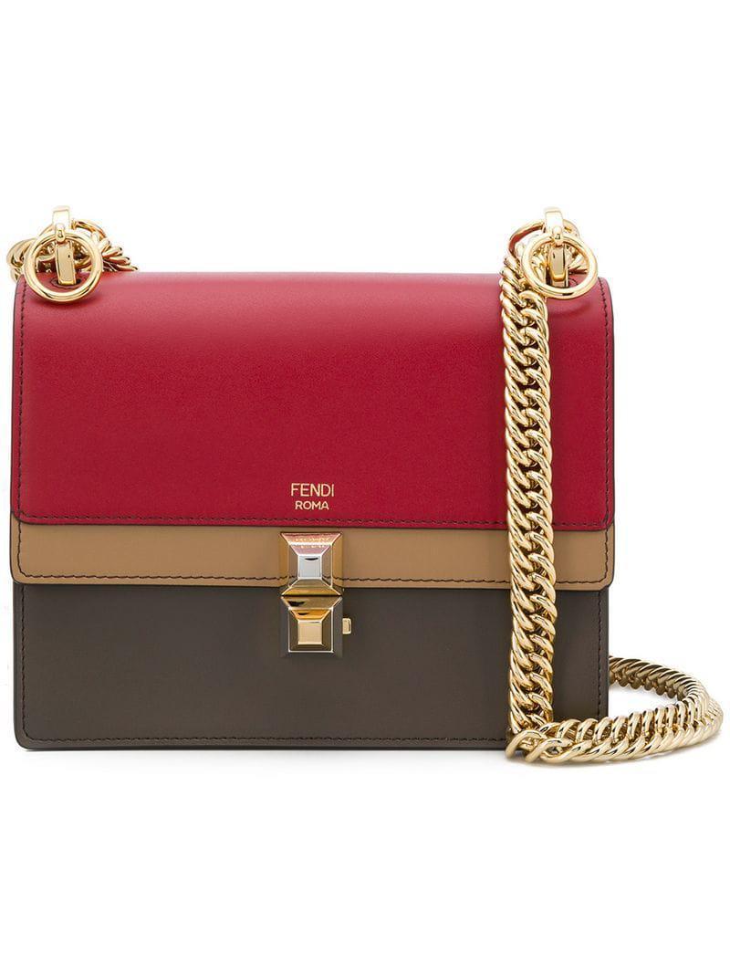 e410214d19fc Fendi Kan I Small Shoulder Bag in Red - Lyst
