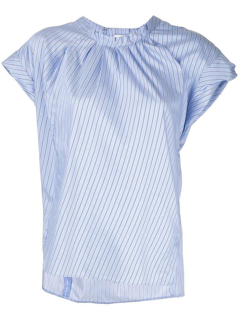 b42873f0 Lyst - 3.1 Phillip Lim Striped Round Neck T-shirt in Blue