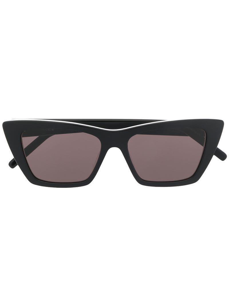 7a2b4bfe35f Saint Laurent New Wave Sl 276 Sunglasses in Black - Lyst
