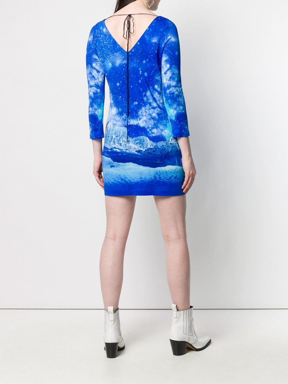 Just Cavalli - Blue Night Sky Dress - Lyst. View fullscreen 07ceb3234