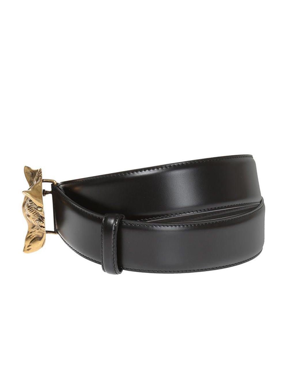 34f21896a89 Lyst - Gucci Wolf Head Belt in Black for Men