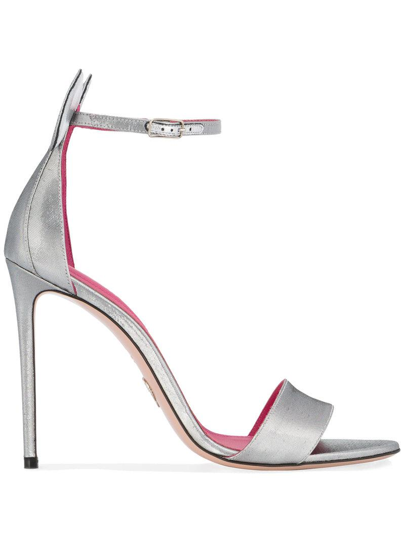 OSCAR TIYE Minnie 110mm Sandals in ,Metallics.