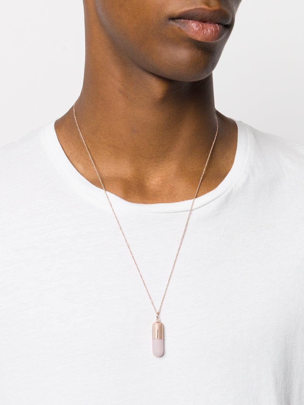 True Rocks large pill pendant necklace - Metallic ZFXKv