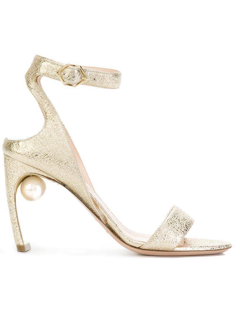 1b4917a53e7 Nicholas Kirkwood Lola Pearl Sandals in Metallic - Lyst