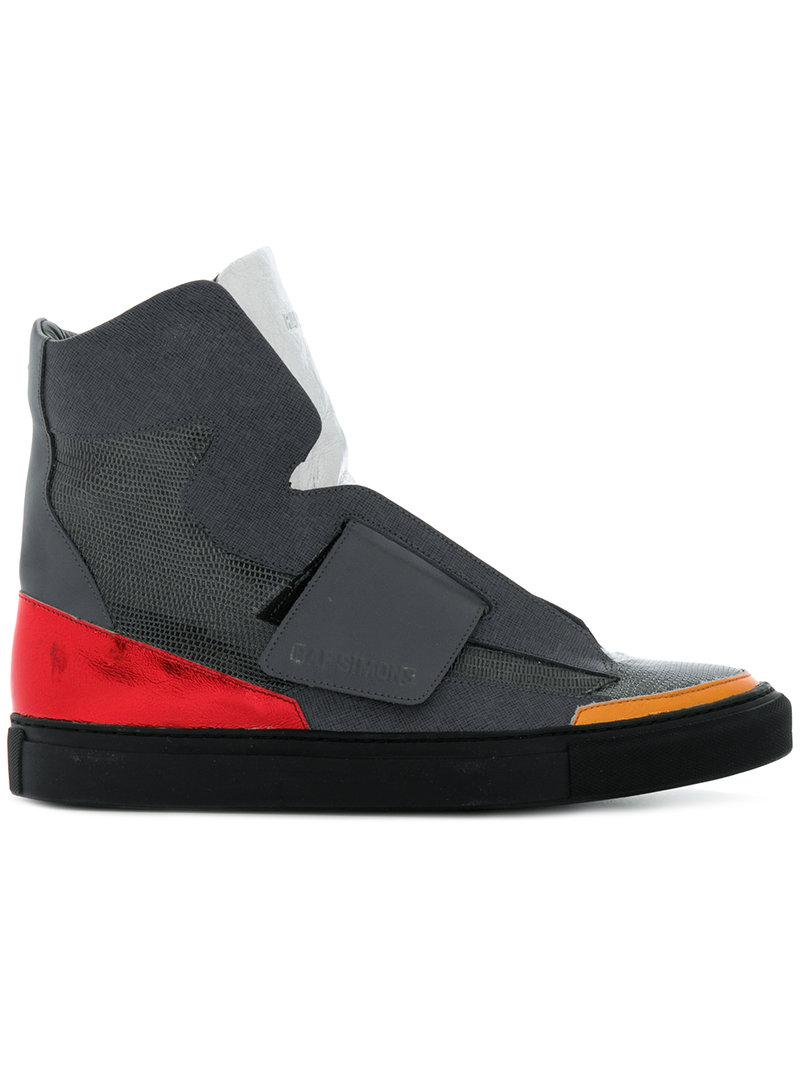 touch strap hi-top sneakers - Black Raf Simons 5dnPKTBpra