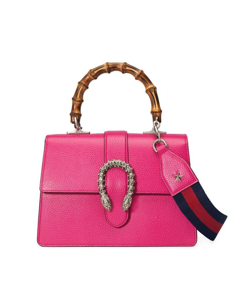 eb184a8e8f3 Gucci Dionysus Medium Top Handle Bag in Pink - Save 43% - Lyst