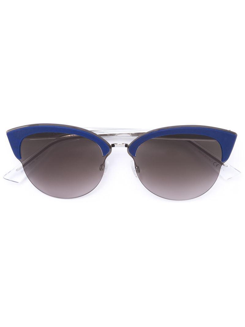 25e852fd2f Dior  run  Sunglasses in Blue - Lyst