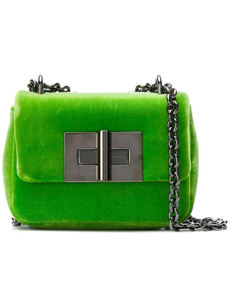 91324b078a69 Tom Ford Natalia Velvet Crossbody Bag in Green - Save 25% - Lyst