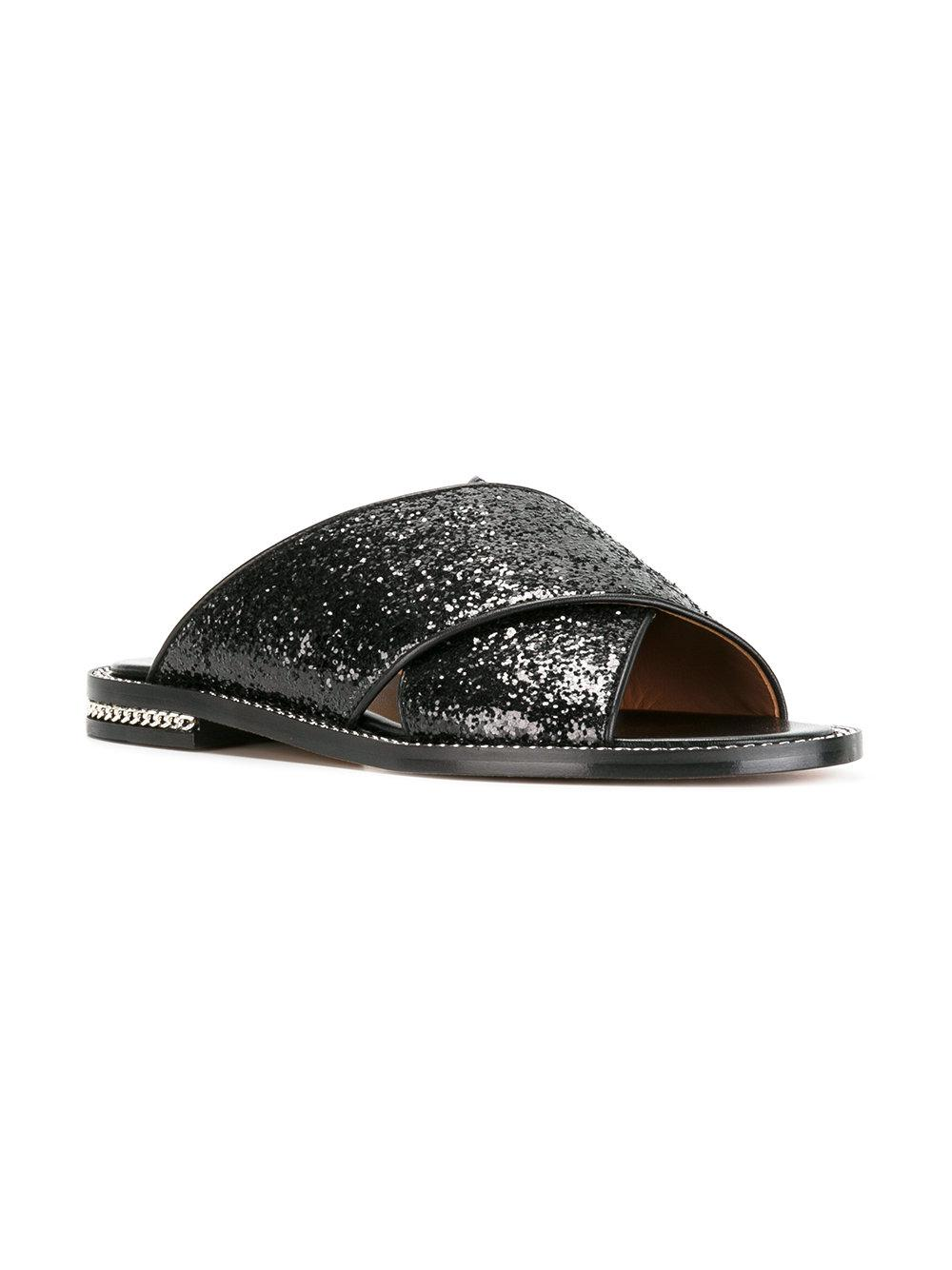 Givenchy Sequin chain flat sandal rdlJ69i