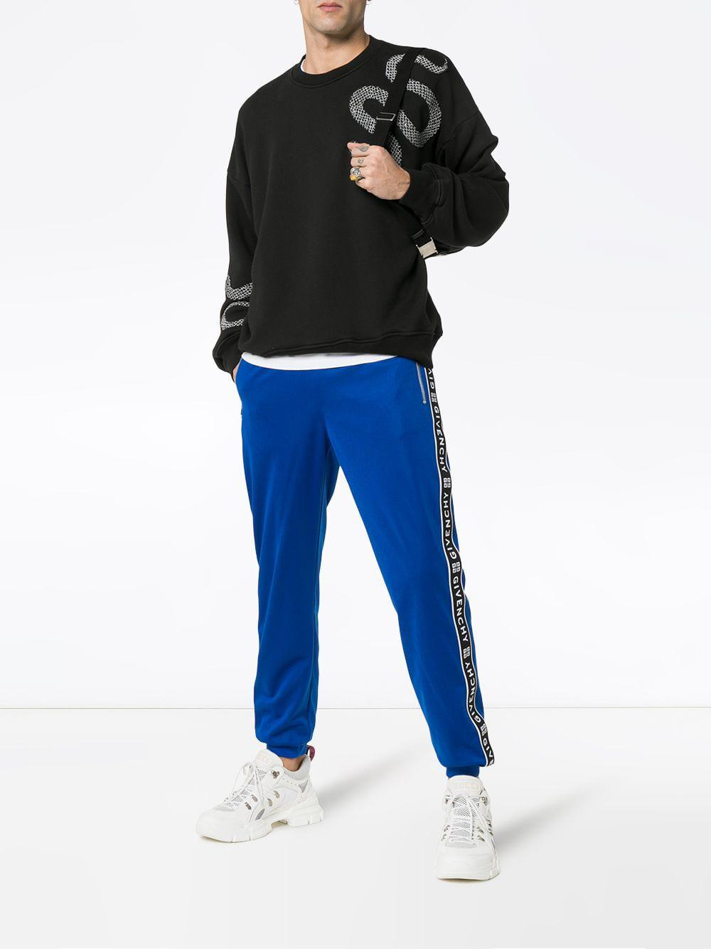 db137778c79 Lyst - Pantalon de jogging à bandes logo Givenchy pour homme en coloris Bleu