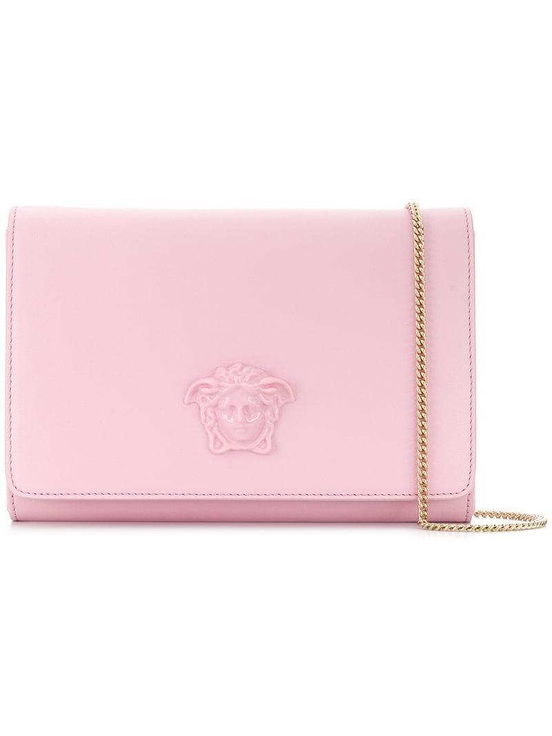 4b0b0927d7bf Versace Palazzo Medusa Shoulder Bag in Pink - Lyst