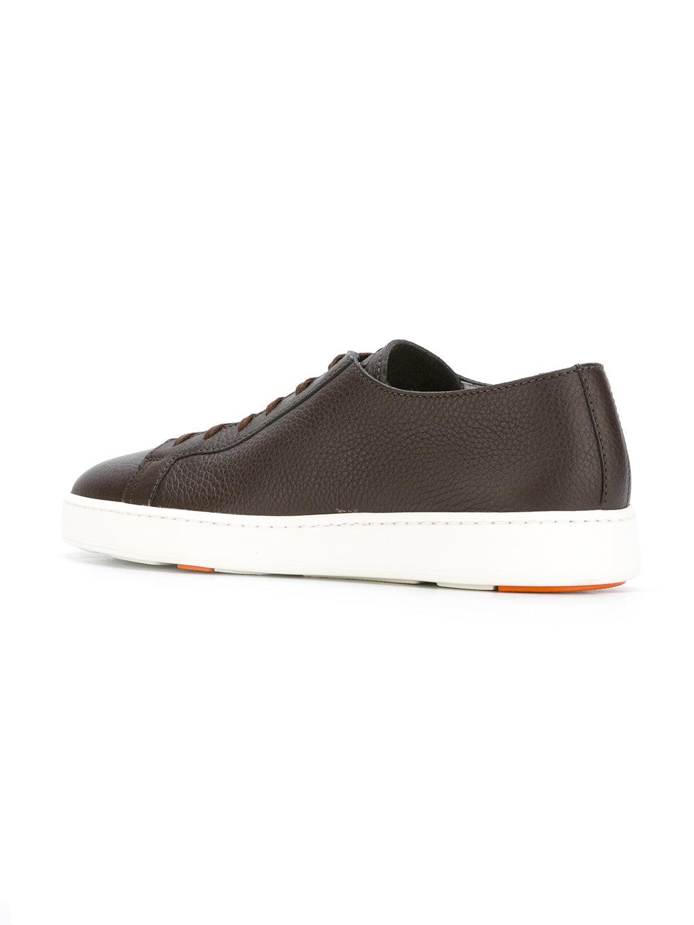 Santoni grained lace up trainers the cheapest cheap pay with visa cheap price outlet WnZw0Xprsp